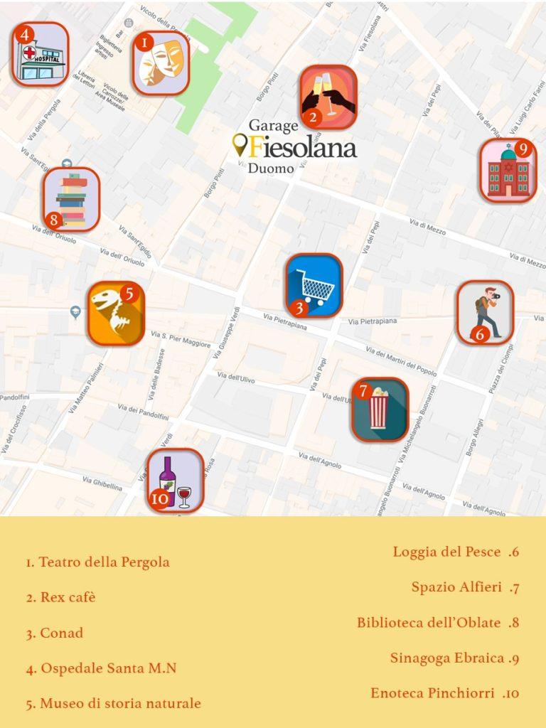 map of garage Fiesolana