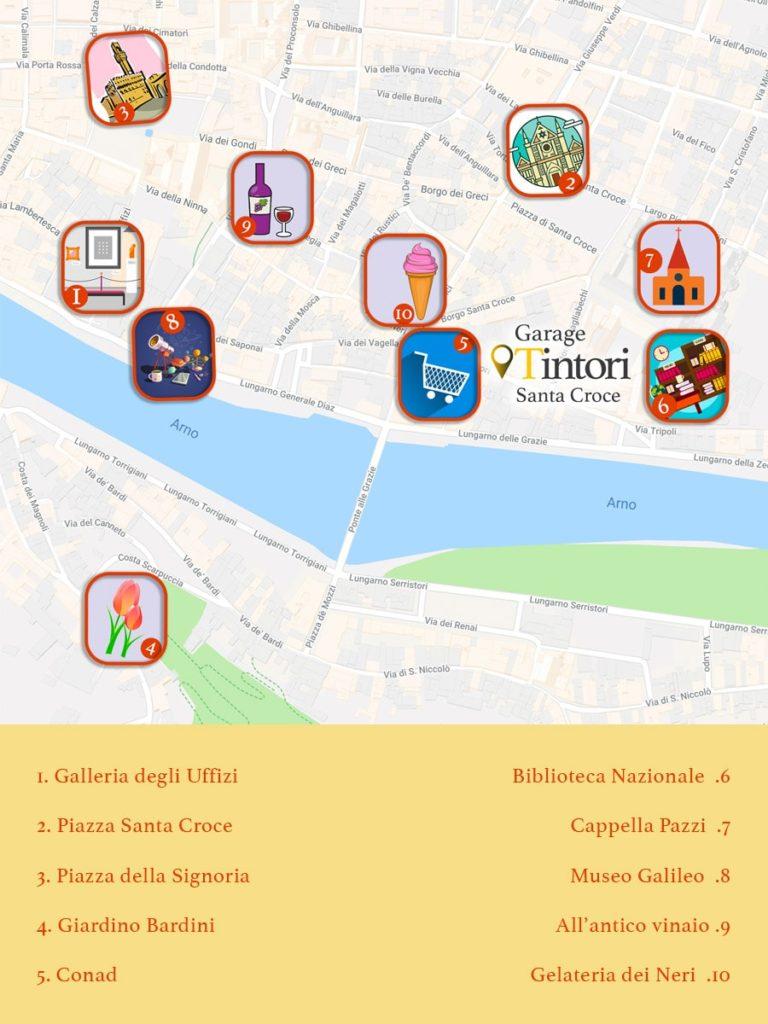 maps of garage dei tintori