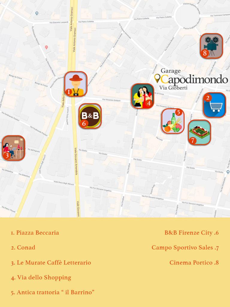 Mappa garage Capo di Mondo